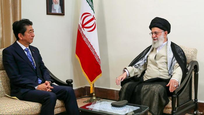 Iran Shinzo Abe und Ali Chamenei (Ilna)
