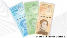 Neue Banknoten der Zentralbank von Venezuela