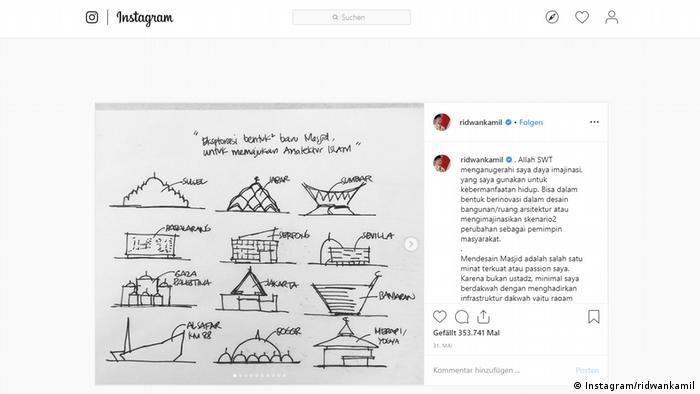 Screenshot Instagram ridwankamil (Instagram/ridwankamil)