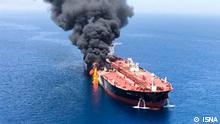 Golf von Oman - Schiffexplosion