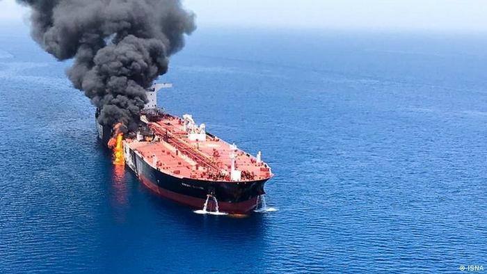 Golf von Oman - Schiffexplosion (ISNA)