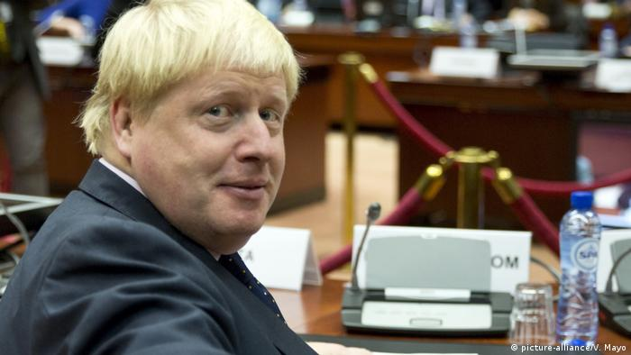 Boris Johnson in Brüssel (picture-alliance/V. Mayo)