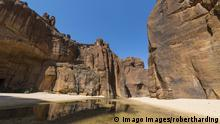 Drying up waterhole in Guelta d Archei, Chad
