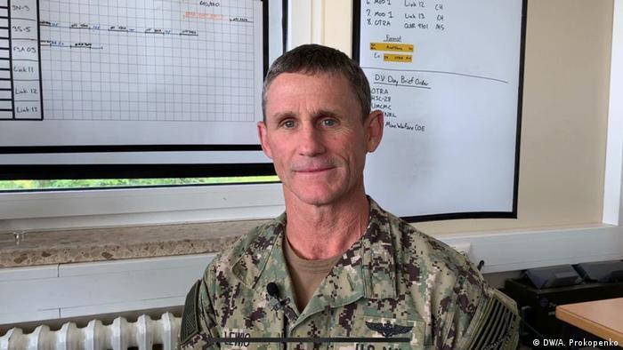 Вицеадмирал Андрю Люис - командир на Втори американски флот и на учението в Балтийско море