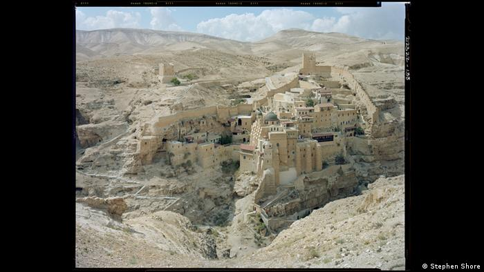 St. Sabas monastery was built into the hills of the desert; photo by Stephen Shore, St. Sabas Monastery, Judean Desert, 2009 (Stephen Shore)