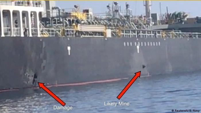 انفجار مشابه علیه نفتکشی که در ژوئن ۲۰۱۹ در خلیج عمان هدف حمله قرار گرفت