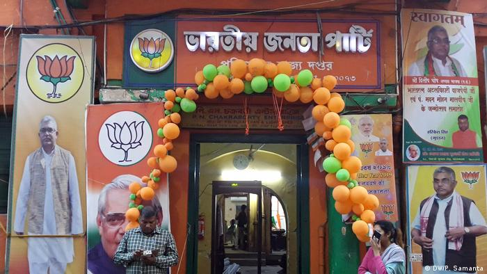 Bangladesch Schauspielerin Anju Ghosh wird BJP Mitglied (DW/P. Samanta)