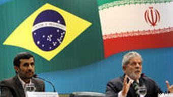Luiz Inacio Lula da Silva mit Mahmoud Ahmadinejad in Brasilien