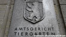 Schild Amtsgericht Tiergarten