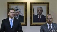 Palästinenser Westjordanland Deutschland Guido Westerwelle bei Salam Fayyad