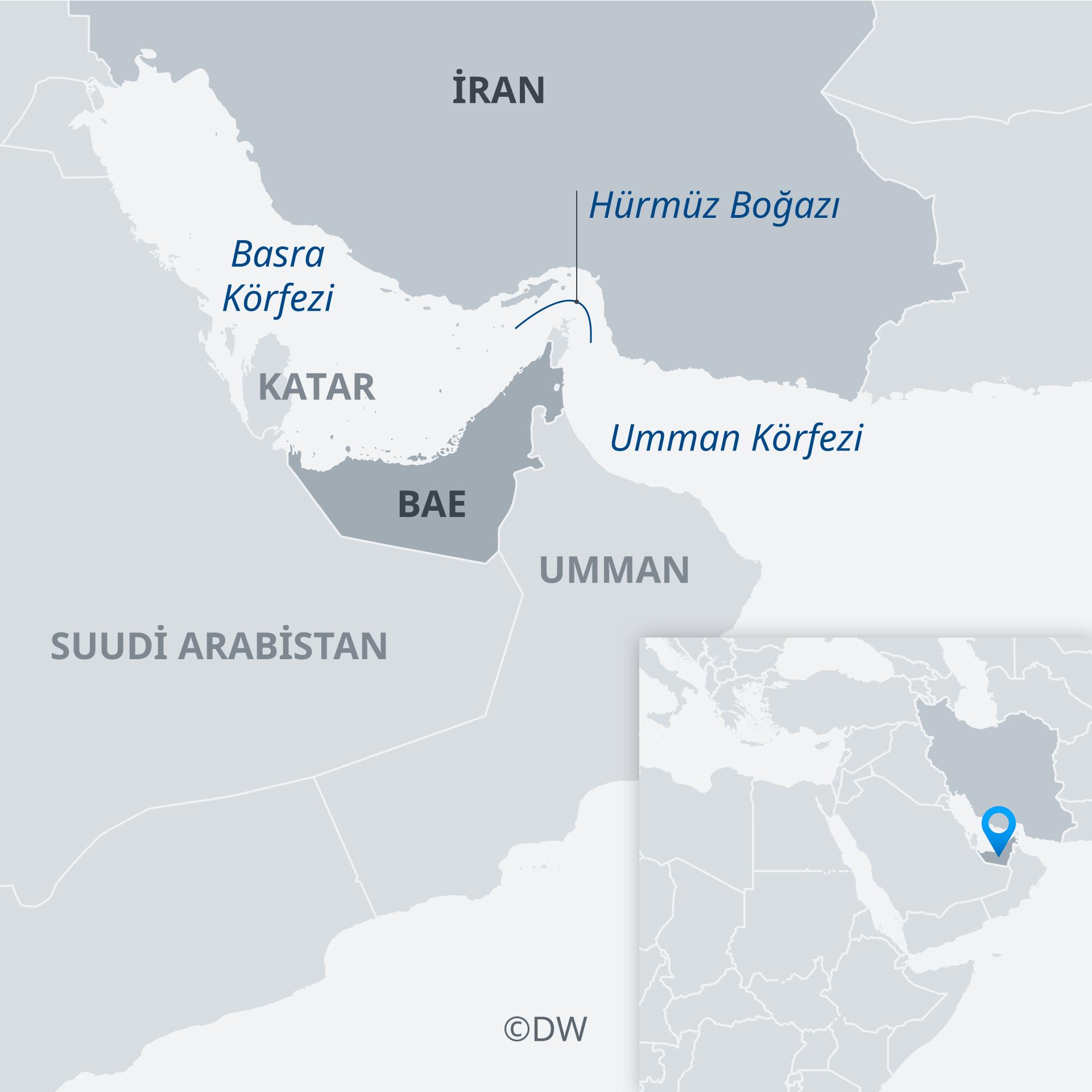 Infografik Karte Strase von Hormuz TR