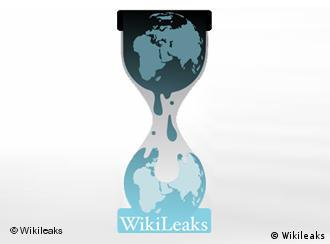 A picture of the hourglass that serves as Wikileaks' logo
