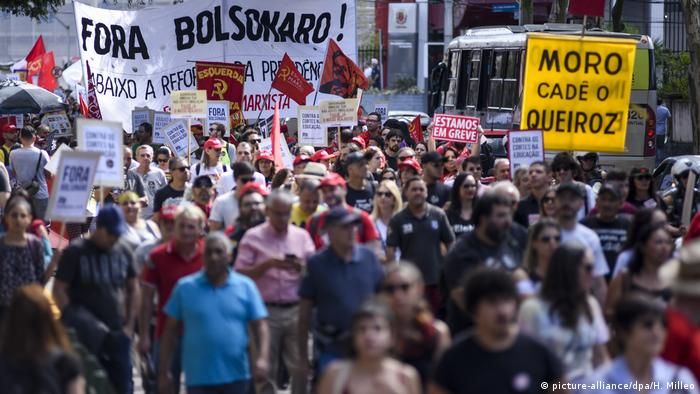 Generalstreik in Brasilien (picture-alliance/dpa/H. Milleo)
