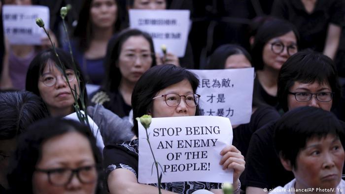 Hongkong Protest gegen Auslieferungen nach China