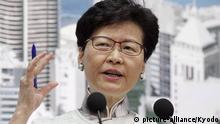 Carrie Lam in HongKong