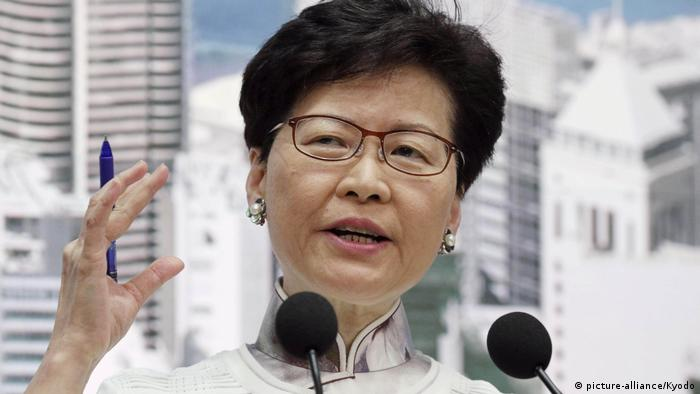 Carrie Lam in HongKong (picture-alliance/Kyodo)