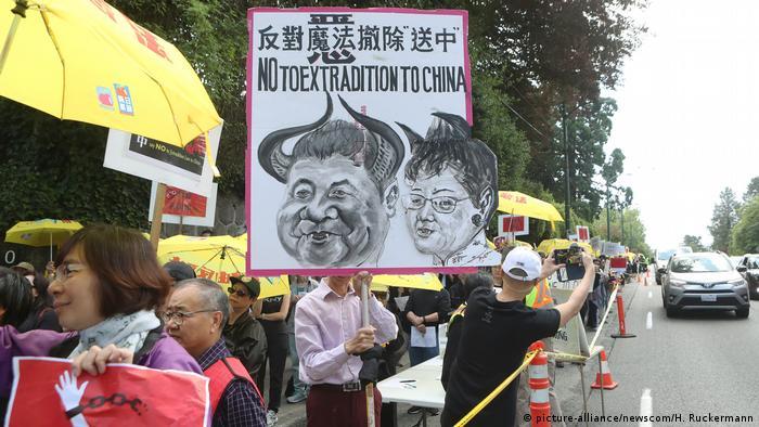 Hongkong Proteste gegen Auslieferungsgesetz (picture-alliance/newscom/H. Ruckermann)