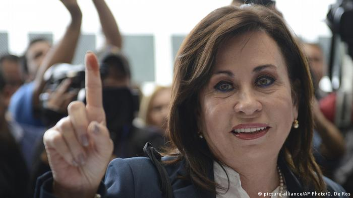Guatemala Wahlen Sandra Torres (picture-alliance/AP Photo/O. De Ros)