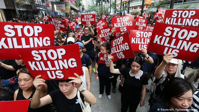 Hongkong Proteste gegen Gesetz zur Auslieferung an China (Reuters/A. Perawongmetha)