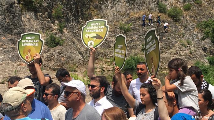 Türkei Protest gegen Entwaldung in Ballikayalar, Kocaeli