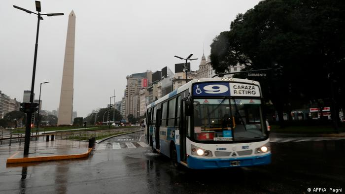 Power cuts affected transport in wintery Argentina