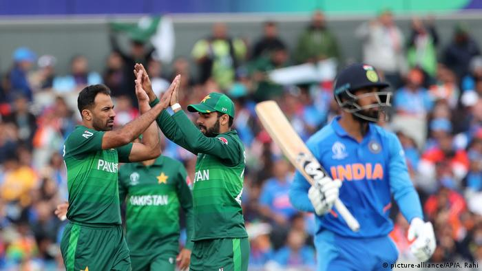 India vs Pakistan play their group match in the ICC World Cup 2019