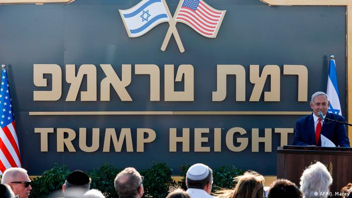 Israel's Netanyahu names new Golan settlement 'Trump Heights'