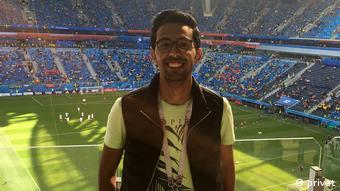 Football fan Mahmoud Moussa