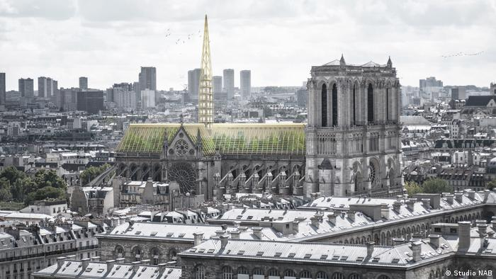 Architects have submitted models for a new roof and spire to the French government