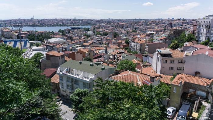 View of Kasimpasa neighborhood, Istanbul