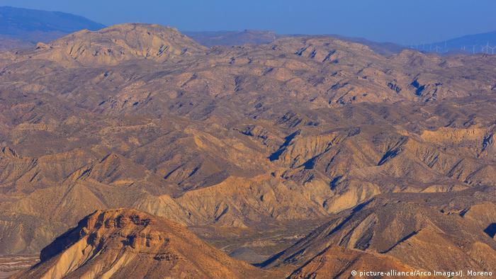 Montanhas no deserto da Andaluzia