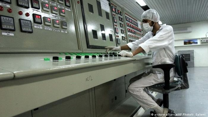 Iranian technician works at the Uranium Conversion Facility