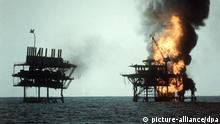 BG Geschichte Iran USA Konflikte iranische Ölbohrplattformen bei Rashadat im Persischen Golf