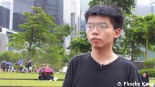 Joshua Wong Hongkong Aktivist Protest