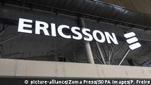 MWC2019 Mobile World Congress Barcelona, Spanien | Logo von Ericsson