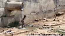 Indien Abwassserkanal in Neu Delhi