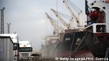 Mosambik Hafen in Beira