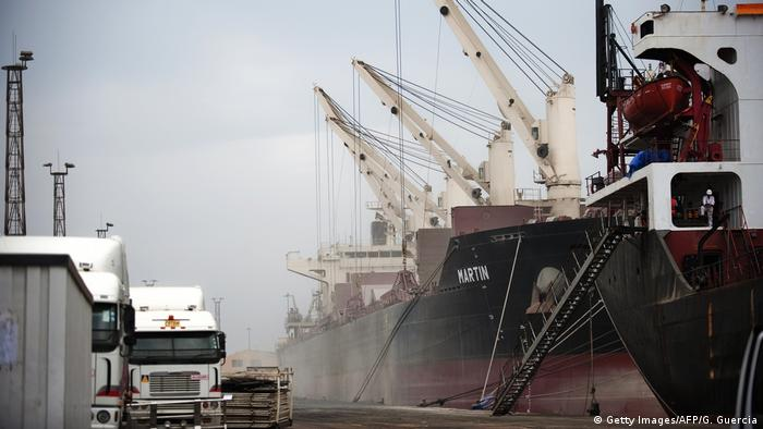 The port of Beira in Mozambique