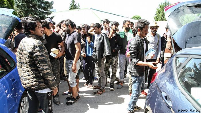 Displaced people in Bihac