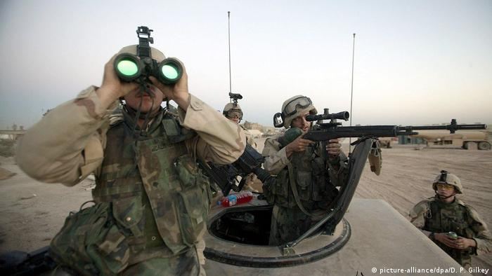 US-Soldaten vom Fort Hood bei Einsatz im Irak (picture-alliance/dpa/D. P. Gilkey)