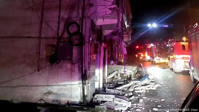 Earthquake rubble in Yibin