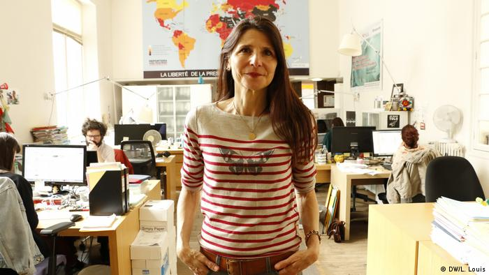 Pauline Ades-Mevel at the Reporters Without Borders office in Paris