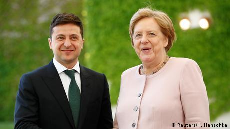 Kyiv hopes for more as Zelenskyy meets Merkel