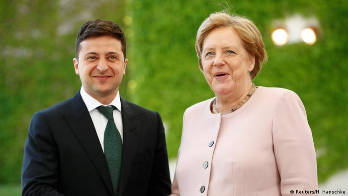Merkel backs Ukraine's Zelenskiy in Russia dispute