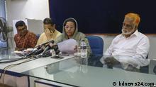 Ex State Innenminister in bangladesh Tanjim Ahmed Sohel Taj hat Pressekonferenz gerufen um sein Neffe Sourav , wer verschwunden ist. Schlagwort: Tanjim Ahmed Sohel Taj , Sourav verschwunden, Pressekonferenz , Dhaka, Bangladesh