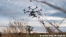 England Landwirtschaft Drohne über Feld