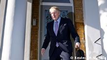 Großbritannien London | Boris Johnson verlässt sein Haus