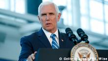 USA Vizepräsident Mike Pence in Miami
