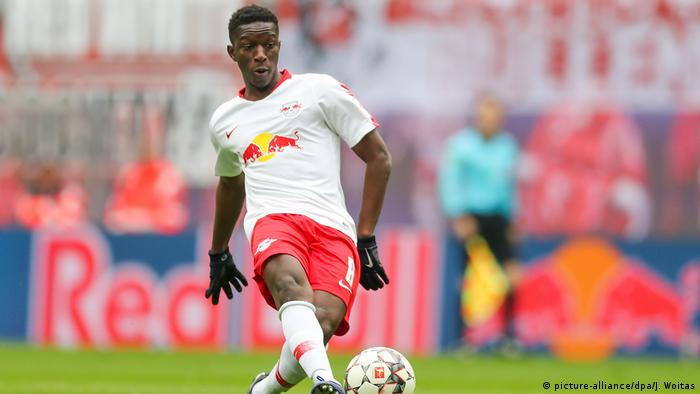 Leipzigs Spieler Amadou Haidara am Ball (picture-alliance/dpa/J. Woitas)