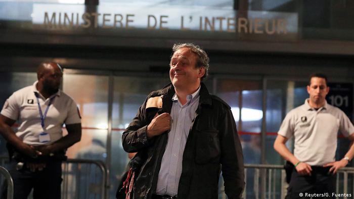 Frankreich Freilassung von Michel Platini